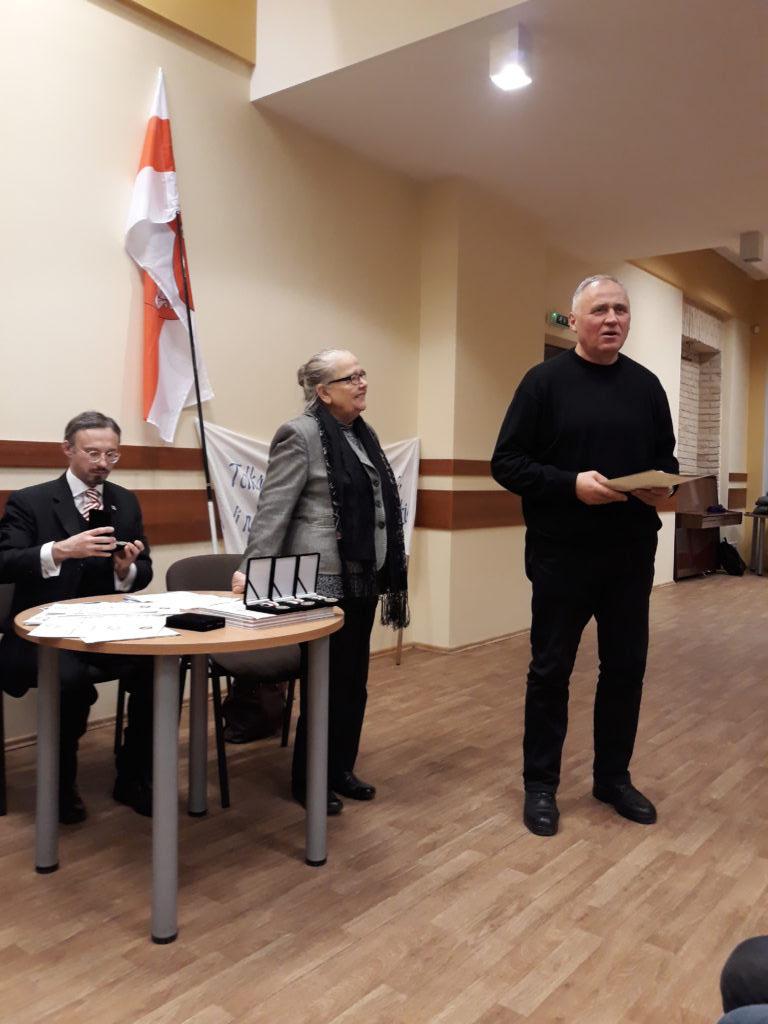 22 лістапада ў Вільні былі ўручаныя медалі Рады БНР да 100-годдзя Беларускай Народнай Рэспублікі