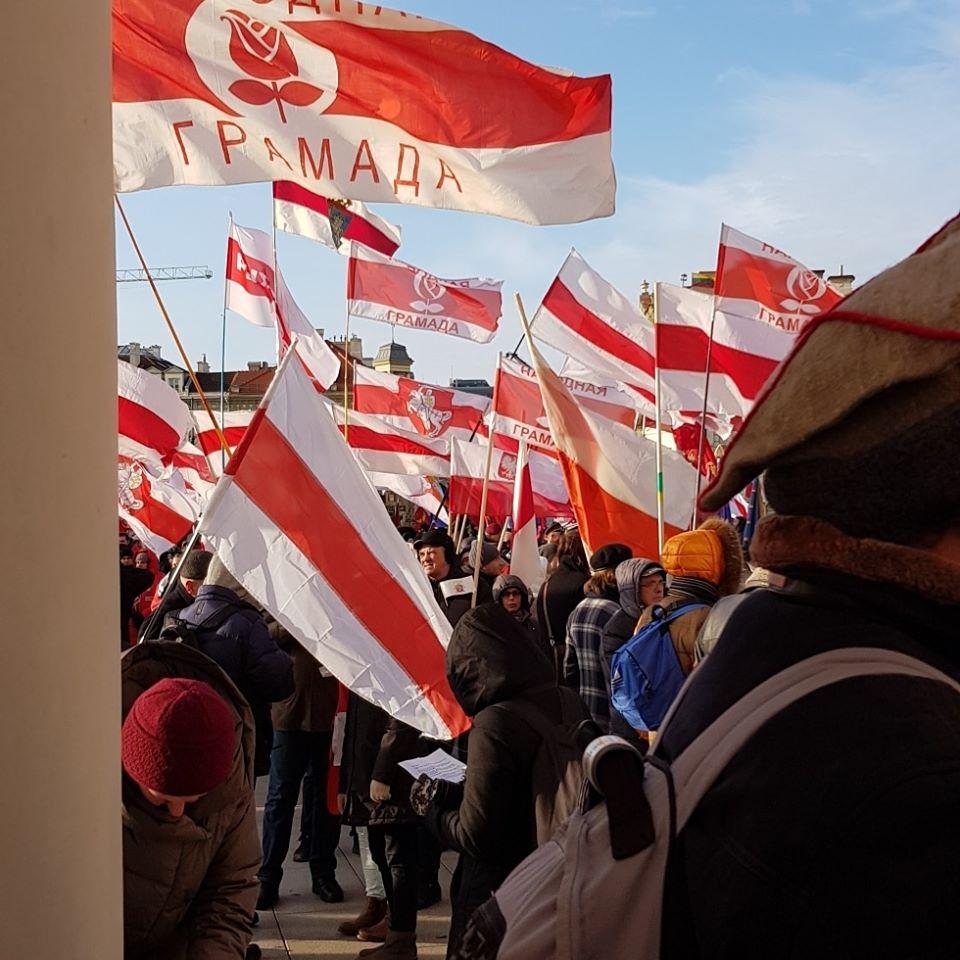 Дэлегацыя Народнай Грамады ўзяла ўдзел у перапахаванні К.Каліноўскага